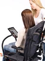 ModularHose tablet solutions for wheelchairs